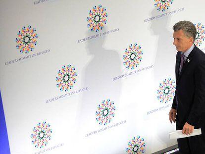 Mauricio Macri participa de la Cumbre sobre refugiados convocada por Barack Obama en Nueva York.