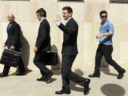 Leo Messi en el juzgado de Gavà en 2013.