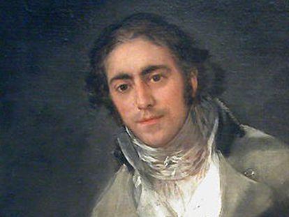 Detalle del retrato de Evaristo Pérez de Castro que pintó Goya, custodiado en el Louvre.