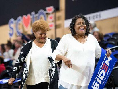 Seguidoras de Joe Biden en un evento en Spartanburg (Carolina del Sur).