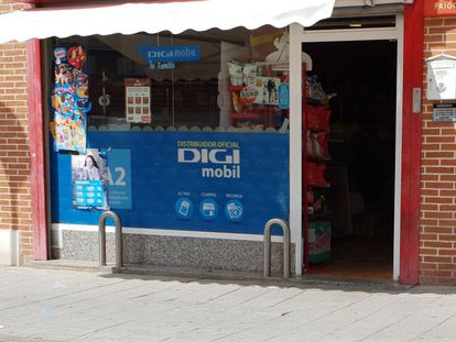 Una tienda de distribución de Digi Mobil