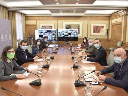 Reunión del Consejo Interterritorial del Sistema Nacional de Salud (CISNS), en Madrid, este miércoles.
