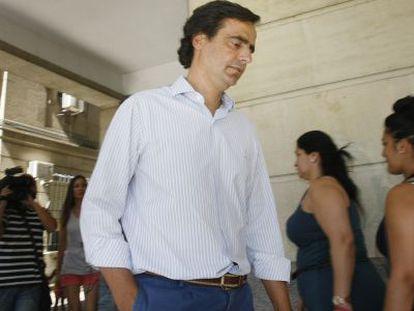 Alfonso Ruiz-Mateos, a su salida de los juzgados de Sevilla.
