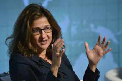 La vicegerente directora del FMI, Nemat Shafik. EFE/Archivo