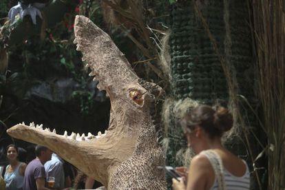 El gran lagarto de la calle de Verdi.