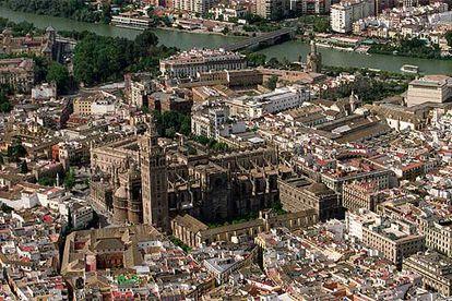 Vista aérea de Sevilla.