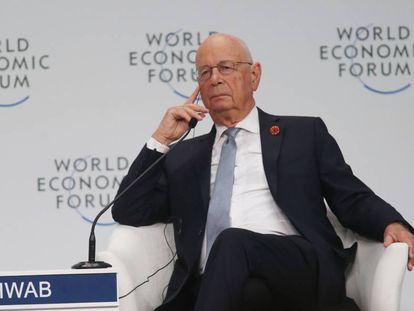 Klaus Schwab, fundador del Foro Económico Mundial, en 2019.
