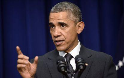 El presidente Obama durante un acto en la Casa Blanca este miércoles.