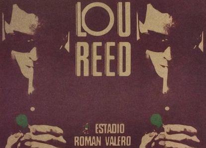 Cartel anunciador del concierto de Lou Reed, el 20 de junio de 1980, en el estadio del Moscardó en Madrid.