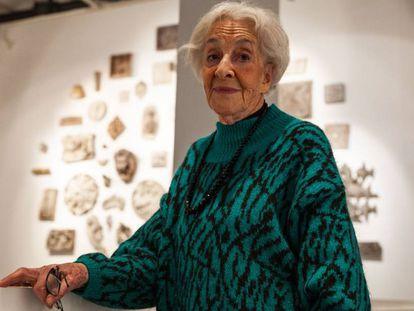 Ida Vitale, en la inauguración de la muestra del Centro Cultural de España en Montevideo.