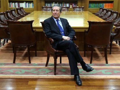 Federico Mayor Zaragoza, el pasado lunes, en la sede de la Fundación Ramón Areces, en Madrid.