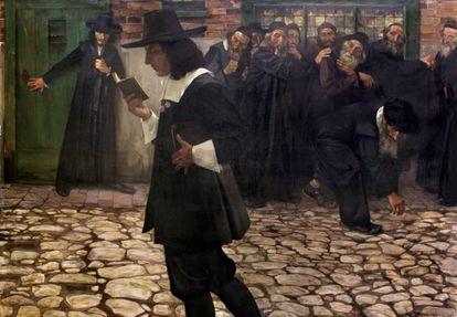 Spinoza en el ostracismo (1907), pintura de Samuel Hirszenberg.