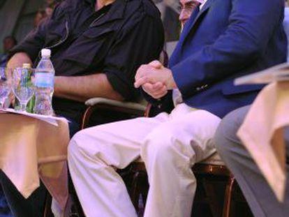El presidente ruso Vladimir Putin y Steven Seagl, durante una de las visitas del actor a Rusia.