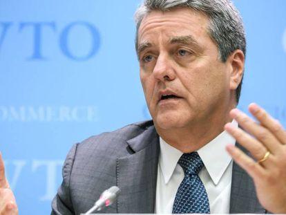 El Director General de la OMC, Roberto Azevèdo, en la conferencia de prensa del pasado 10 de diciembre en Ginebra.