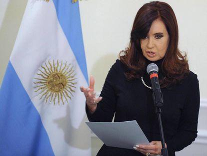 La expresidenta Cristina Fernández de Kirchner en una foto de archivo