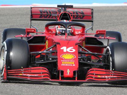 Leclerc, durante un entrenamiento este sábado.