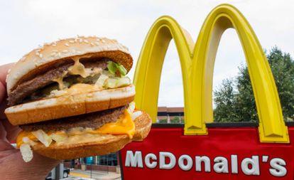 Un Big Mac fotografiado en un McDonalds's de Virginia.
