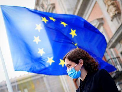 Isabel Díaz Ayuso celebra el Día de Europa.