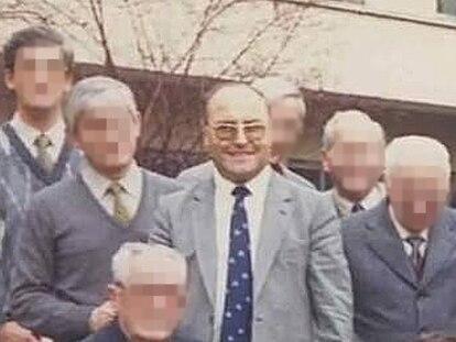 El marista Marino González, acusado de abusos en colegios de Madrid y Toledo, en una imagen tomada en el colegio de San José del Parque, en Madrid, en los años setenta.