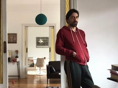 El actor Israel Elejalde, este miércoles en su casa.