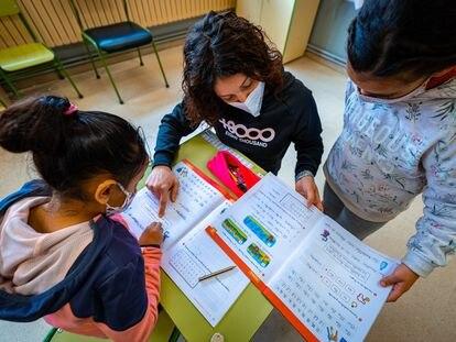 Una clase de primaria en un colegio público de Navarra.
