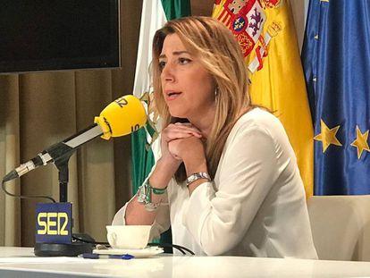 Susana Díaz, ayer durante una entrevista en la cadena SER.