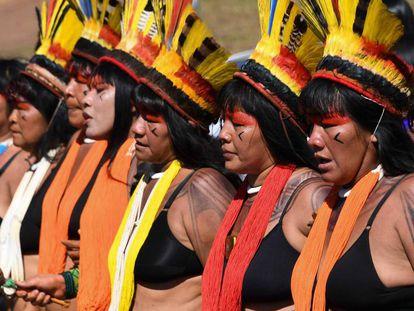 Las mujeres que protestaron contra Bolsonaro.