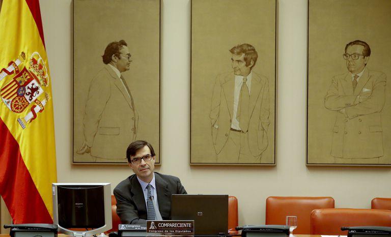 El secretario de Estado para la Unión Europea, Juan González-Barba, este martes en el Congreso.