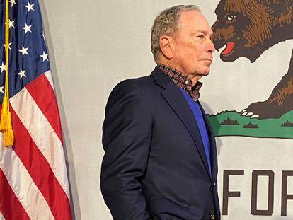 Michael Bloomberg en un evento en Oakland, California, en enero. En vídeo, perfil del candidato demócrata.