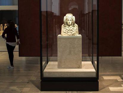 La Dama de Elche expuesta en el Museo Arqueológico Nacional, en Madrid.