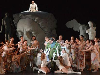 Un momento de la puesta en escena de la ópera 'Parsifal', estrenada en el Festival de Pascua de Salzburgo.
