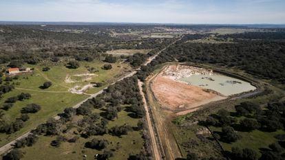 Vista aérea de la zona de Retortillo (Salamanca) en la que Berkely pretendía poner en marcha su proyecto minero.