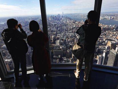Vista de la ciudad de Nueva York desde el mirados en el Empire State