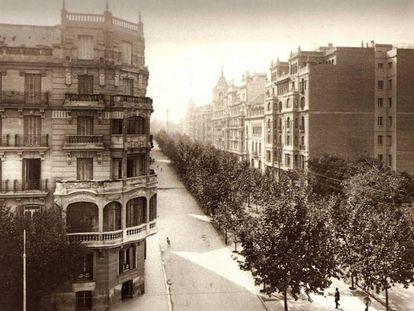 Intersección de las calles Príncipe de Vergara y Goya en el año 1929.