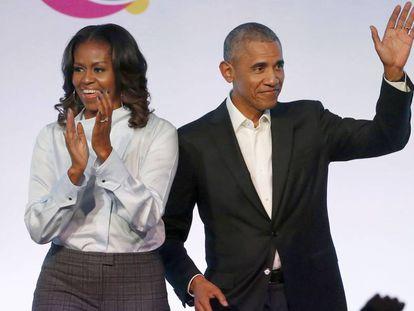 Michelle y Barack Obama, en Chicago, en 2017.