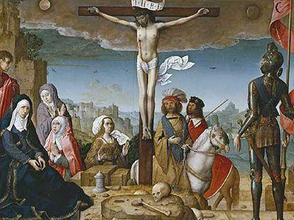 <i>La crucifixión</i><b>, de Juan de Flandes</b>.