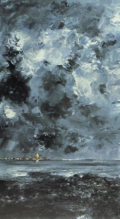 'La ciudad' (1904), cuadro de August Strindberg.
