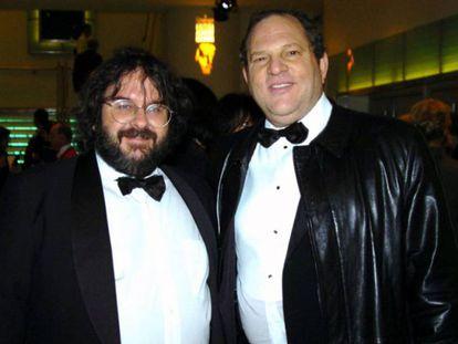 Peter Jackson y Harvey Weinstein, cuando colaboraban juntos.