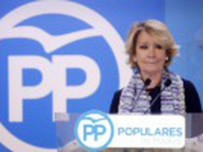 La presidenta del PP de Madrid deja el cargo.  Ni Podemos dice que sea la culpable, pero sí soy la responsable política , afirma