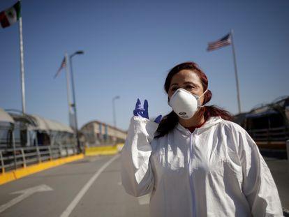 La abogada Susana Prieto durante una entrevista en Ciudad Juárez, el 6 de mayo.