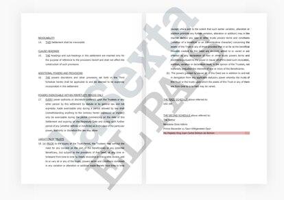 Documento de Peregrine Trust a nombre de Juan Carlos I. EL PAÍS / LA SEXTA / ICIJ