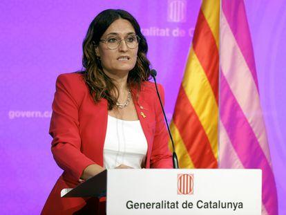 La consejera de Presidencia, Laura Vilagrà, en una imagen de archivo.