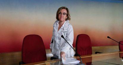 La portavoz del PSOE en el Ayuntamiento de Madrid, Purificación Causapié.