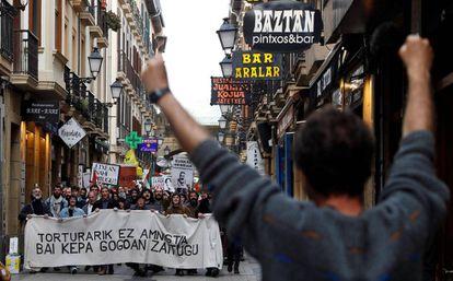 Una imagen del rodaje de 'Patria' en San Sebastián.