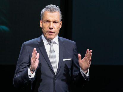 Torsten Müller-Otvos, consejero delegado de Rolls-Royce Motor Cars, el martes en Ginebra.