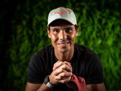 Rafael Nadal, durante el Open de Australia, celebrado en Melbourne en febrero de 2021.