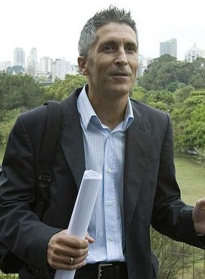 Fernando Grande-Marlaska, ayer, en São Paulo.