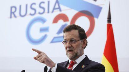 Mariano Rajoy, en el G20 de San Petersburgo.