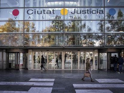 Fachada de la Ciudad de la Justicia, en Valencia.