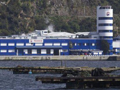Sede principal de Pescanova, en Chapela (Redondela), en la ría de Vigo